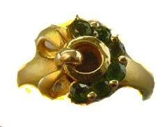 1018: 18k YG Chromium Diopside Ring