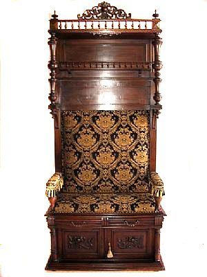 1063: Fine French Walnut Grand Hall Seat
