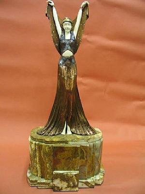 1206: Fabulous Art Deco Chiparus Style Bronze