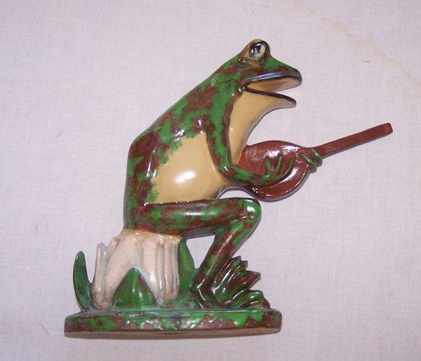 1210: Rare Monumental  Weller Banjo Frog