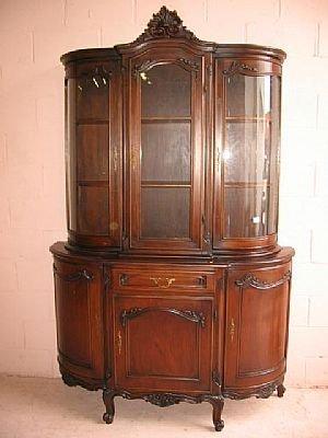1222: Fine Walnut Louis XV China Cabinet