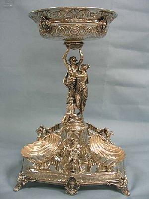 1248: Fine STERLING Silver Figural Centerpiece