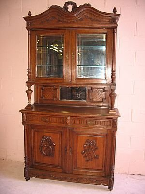 17: A Fine French Carved Deux Corps Buffet