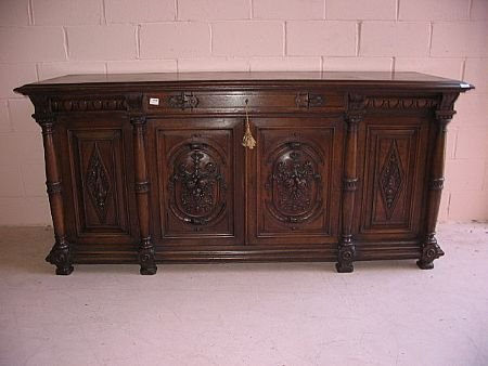 20: French Carved 19th Century Buffet
