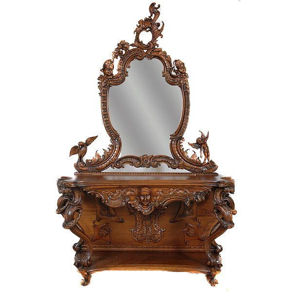 3001: Fabulously Carved Entry Mirror
