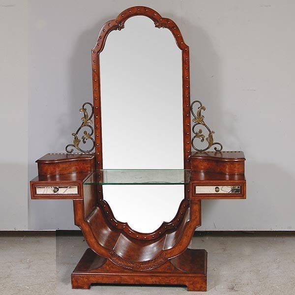 3010: Walnut Deco Dropwell Vanity