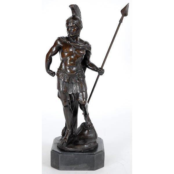 3017: Fine Gladiator Study Bronze Figure