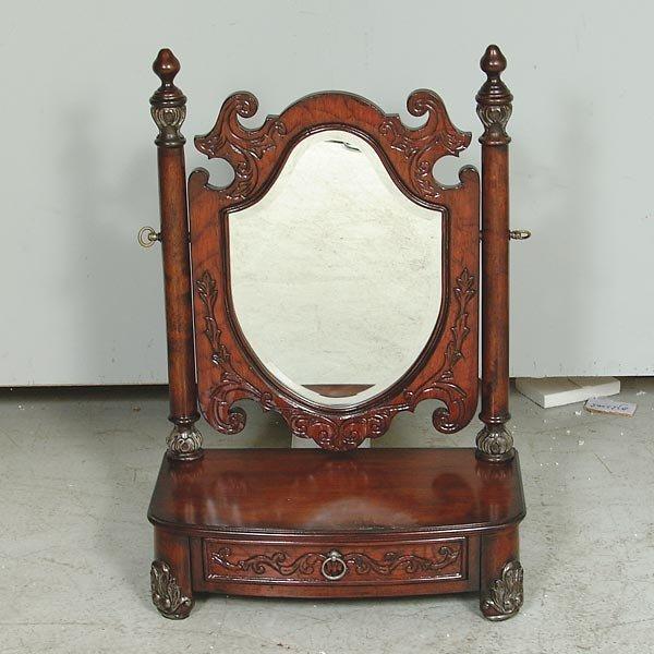 3019: Mahogany Finish Shaving Mirror
