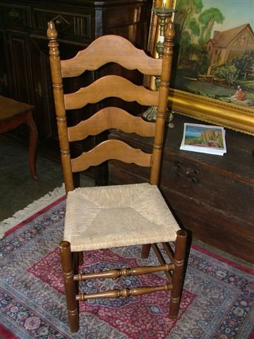 6005: Set of 6 Ladderback French Dining Chairs