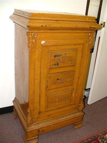 6008: Antique Rare Case Furniture Parlour Safe