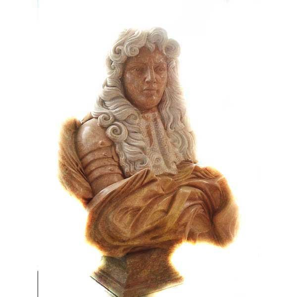 6133: Large Marble Hand Carved Nobleman Bust