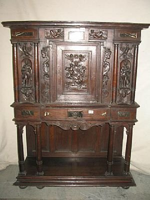 2330: Fine 19th Century Carved Relic Cabinet