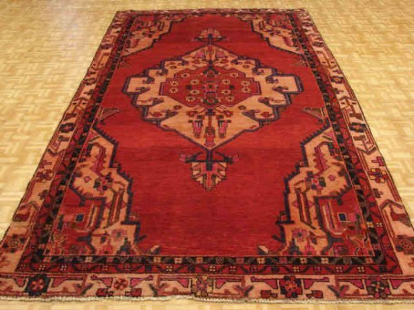 5013: Fine Hamedan Persian Hand Tied Rug
