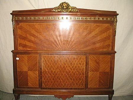 5015: Fine French Louis XVI Inlaid Bed