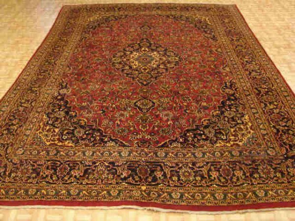 5017: Fine Hand Tied Mashad Persian Room Size Rug