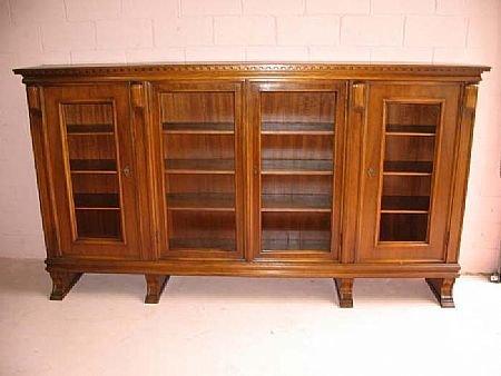 5018: Fine Walnut French Low Bookcase