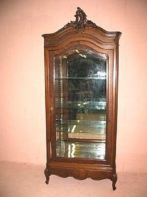 5021: Fine French Walnut Louis XV China Cabinet