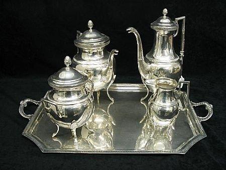7001: Fabulous 5 pc. STERLING Tea Set