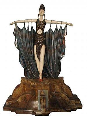 7006: Fine Bronze Art Deco with Ivory Semiramis