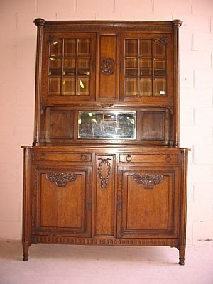 7010: Classical French Oak Sideboard Cabinet