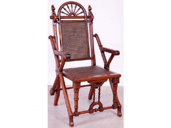 7012: Victorian Style Cane Seat Fancy Side Chair
