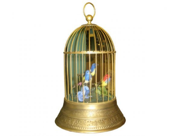 7018: Brass Musical Bird Cage