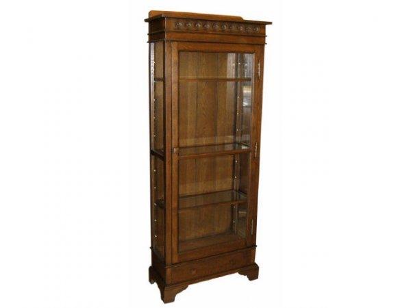 7021: Solid Oak Single Door Bookcase