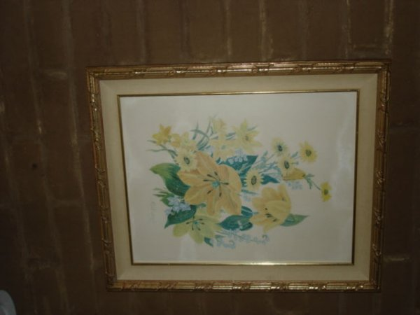 1010: Print of Yellow Flowers