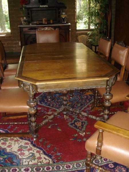1012: Spanish Revival Dining Room Set, circa 1920