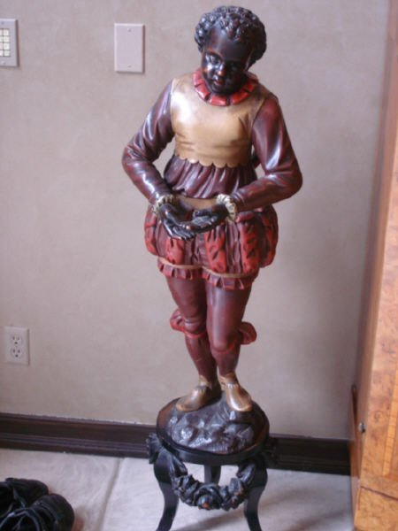 1104: Large Carved Blackamoore on stand