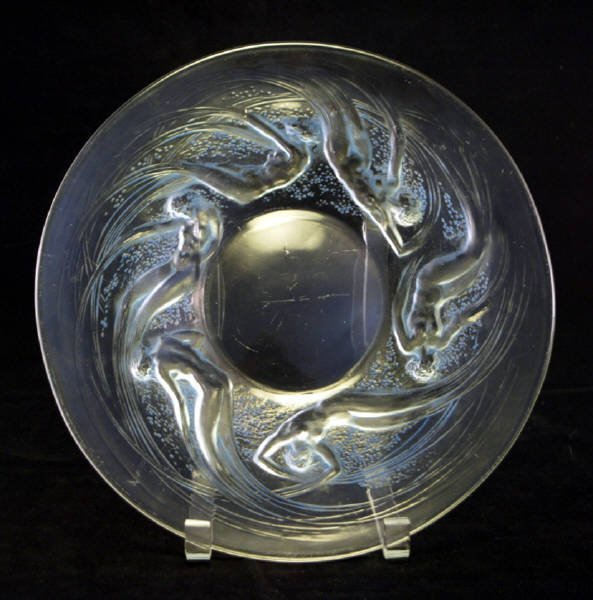 1237: c1921 R Lalique Ondines Swirling Nude maiden Plat