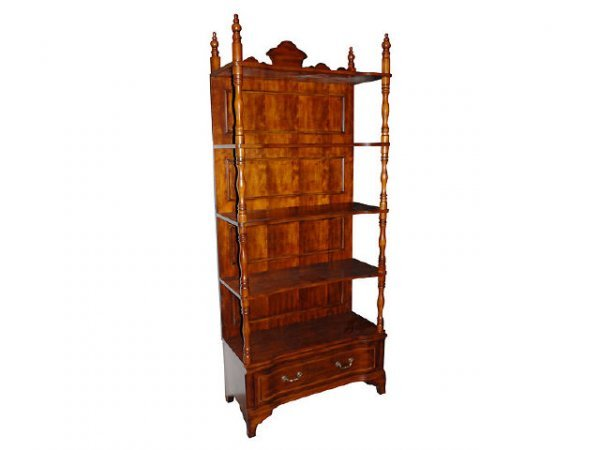 7180: Fine Open Front Bookcase Etagere