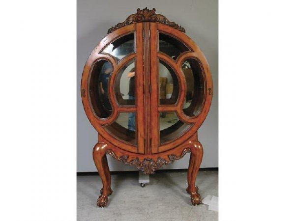 7184: Art Deco Circular China Cabinet