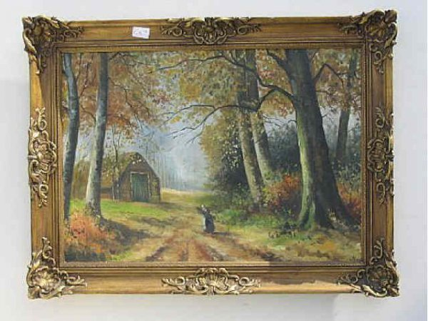 7193: Fine Antique European Oil Painting