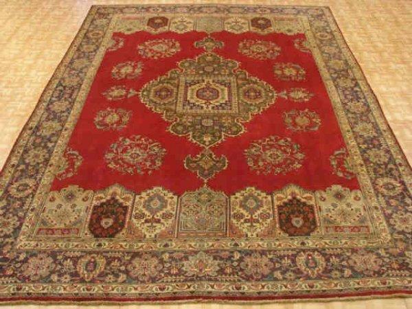 7218: Fine Tabriz Hand Tied Persian Room