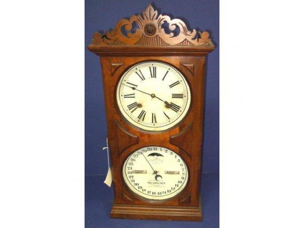 325: Antique Ithaca Calendar Clock
