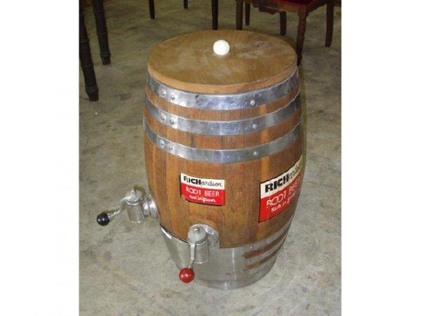 10: Vintage Wooden Rootbeer Barrel Dispenser