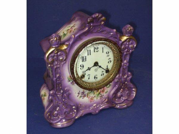 13: Fine Victorian Porcelain Mantle Clock