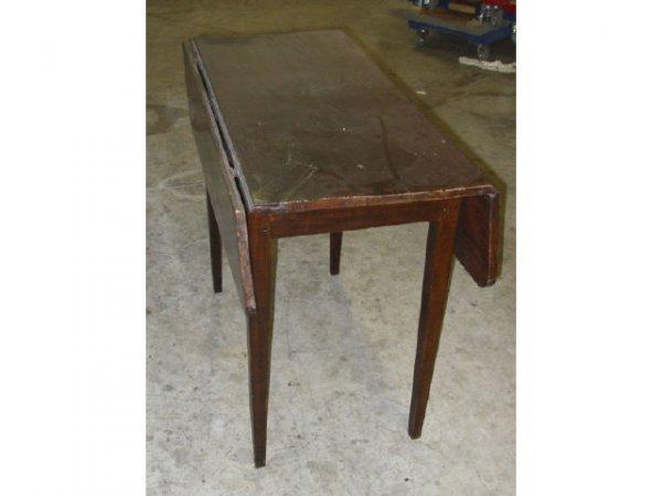 15: A Good 1810 Black Walnut Kitchen Table