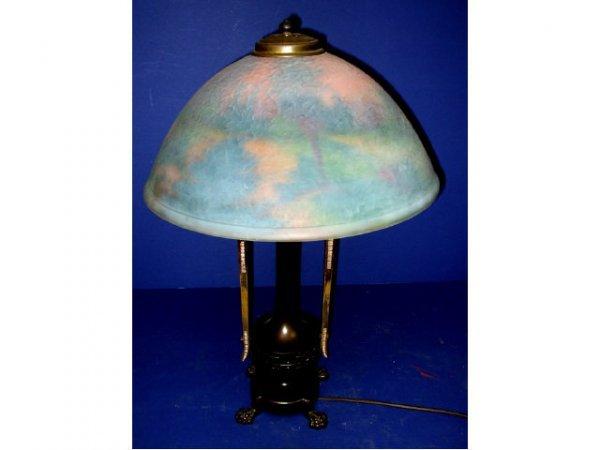 1: Fine Moe Bridges Reverse Painted Lamp