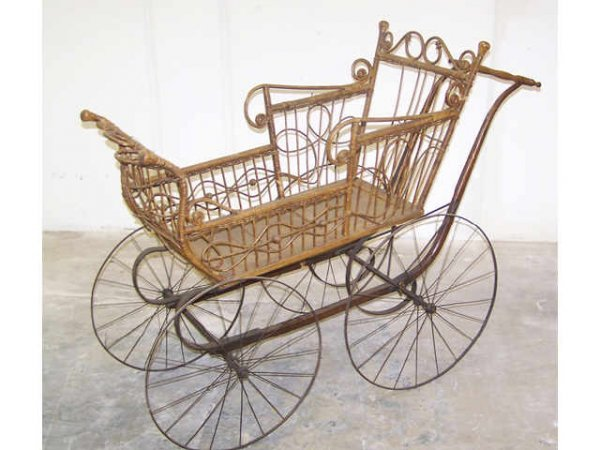 2: Victorian Wicker Baby Buggy