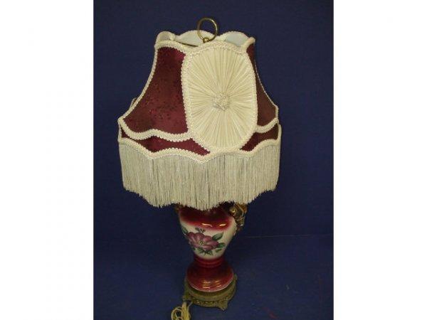 6: Fancy Porcelain Hand Painted Lamp
