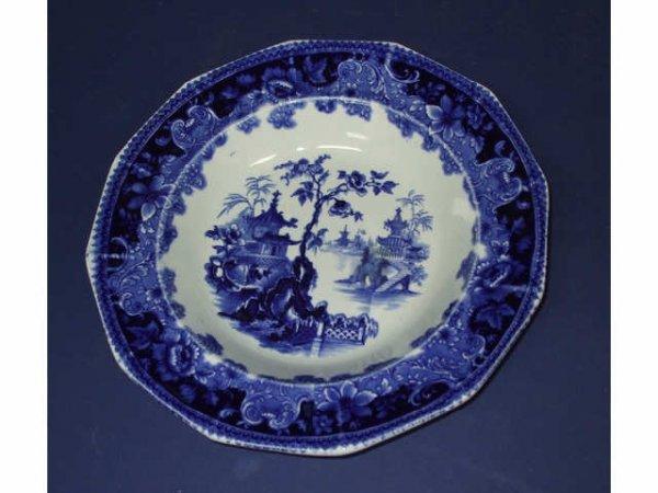 1C: English Blueware Circassia Charger