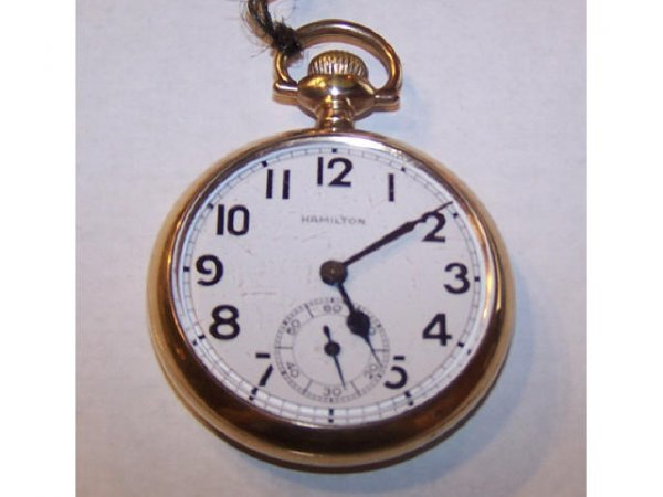 10011o: Hamilton Railroad Pocket Watch GF Case