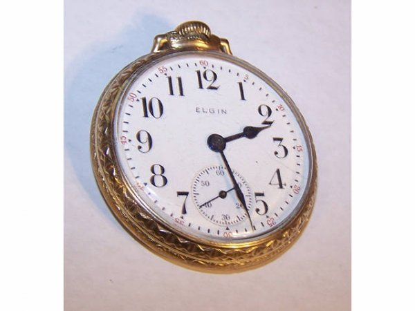 10014o: Elgin B W Raymond 19 Jewel Pocket Watch