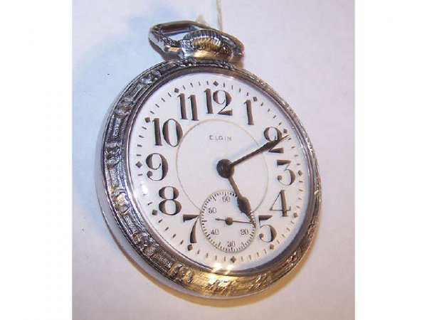 10015o: Elgin Veritas Railroad Pocket Watch