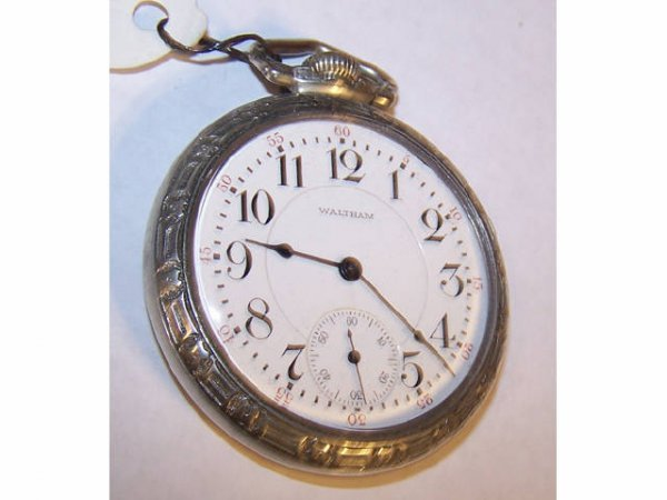 10017o: Waltham  Crescent Street Railroad Pocket Watch