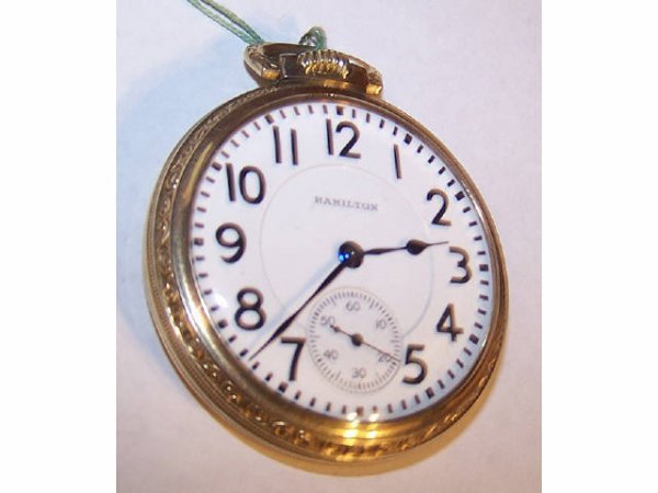 10018o: Hamilton Fancy Cased  982 Railroad Pocket Watch