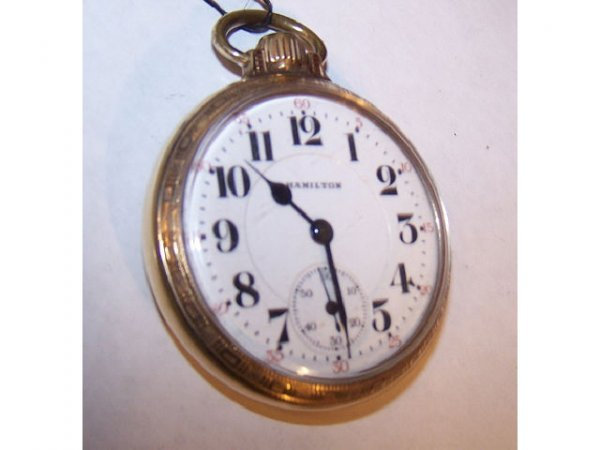 10021o: Hamilton 992 Railroad Pocket Watch