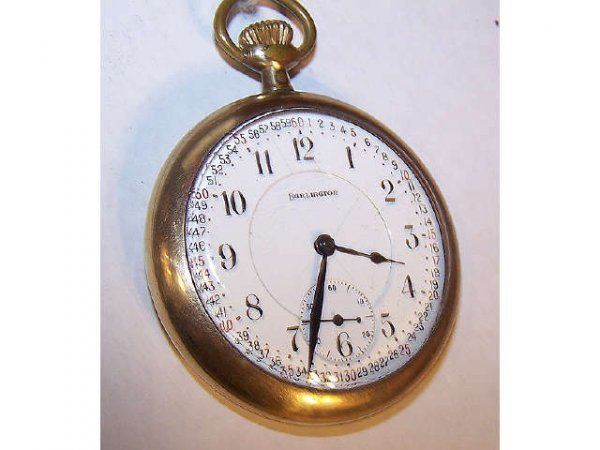 10023o: Burlington  21 Jewel Railroad Pocket Watch